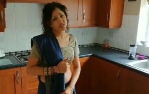 Blue saree daughter blackmailed forced to strip, groped, molested and fucked by old grand father
