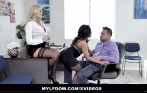 MYLFDom – Teen Coerced into Rough Threesome With Milf