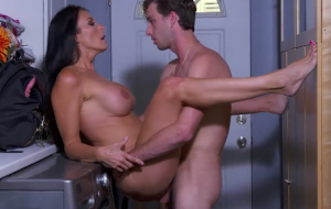 Milf Reagan Foxx fucks young dick