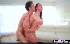 (Angela White) Horny Girl With Big Ass Get Oiled And Anal Nailed clip-05