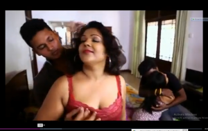 Hot desi bgrade foursome – boob squeeze and dry humping