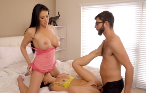 Mom Catches Step Son Pounding Gf And Joins Them