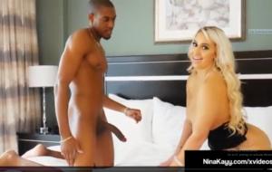 Round Rump Latina Nina Kayy Gets A Big Black Cock Inside Her