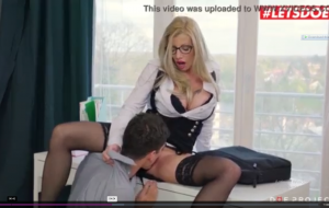 LETSDOEIT – Romanian MILF Teacher Lara De Santis Knows How To Teach Her Boy.