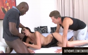 Wife Laura Davis Shoves a Black Cock in Her Ass and Pussy