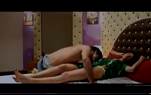 Couple romance removing dress and kissing