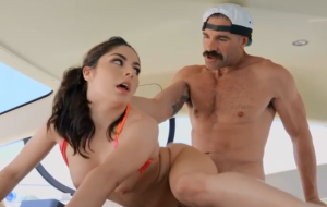 🐇 Lusty natural brunette Keira Croft roughly fucked by a big boner