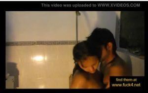 Indian amateur couple shower sex