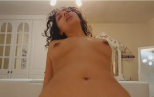 bratty step sister screwed by brother semen on breast pov