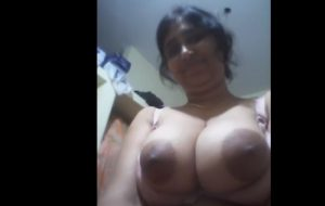 indian aunty showing giant breast opening blouse
