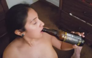 Indian Babe Drinking Beer And Sucking Cock For Massive Cumshot