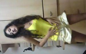 Stunning Teen Girl Dancing, Stripping & Giving BJ