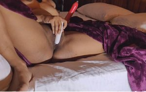 Desi MILF Using Double Dildo Masturbation Sex