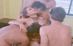Erotic desi gang bang of hot Indian woman