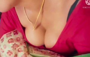 Sexy And Horny Woman In A Red Saree