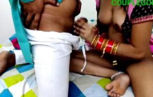 Suhagraat of newly married desi couple