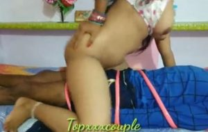 Horny Indian wife riding big Indian dick