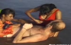 Indian Women Washing A Dick